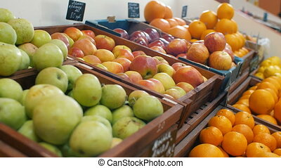 Fruits at the market - Variable arrangement fruits at the...