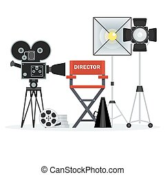 video studio director chair - Film directors chair with...