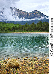 Mountain lake in Jasper National Park