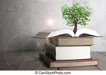 Tree growth from book