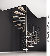 Forward concept - Creative spiral staircase in interior with...