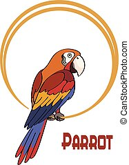 Cartoon Parrot on the Ring