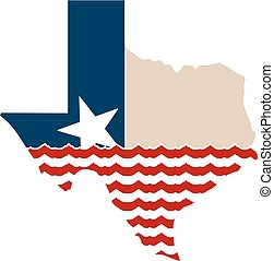 Texas Map When The Goings Gets Tough, The Support Gets Going