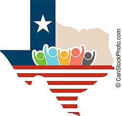 Texas People Support Logo Illustration
