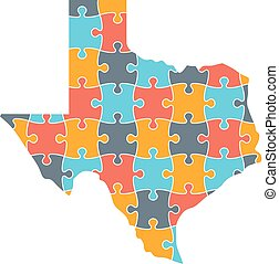 Texas Map Puzzle Solution InfoGraphic