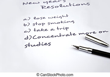 Concentrate more on studies - New year resolution of...