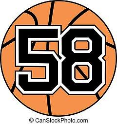 58 basket symbol - Creative design of 58 basket symbol