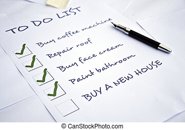 "Buy a new house need - To do list with""buy a new..."