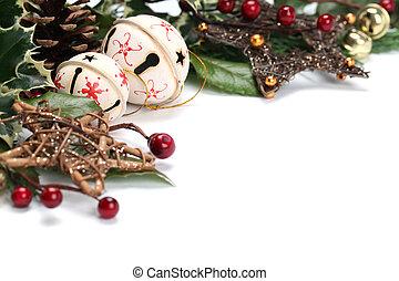 Jingle bell Christmas border