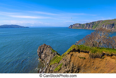 Coast of the Pacific Ocean in Kamchatka