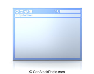 Browser Window - 3D rendered Illustration Isolated on white...