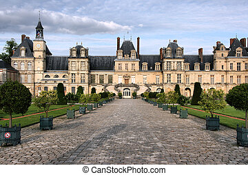 Fontainebleau castle in France. Chateau is inscribed to...