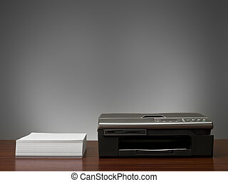 Copy Machine and a stack of  papers