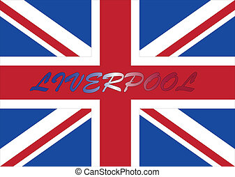 Liverpool with UK flag - Liverpool wallpaper