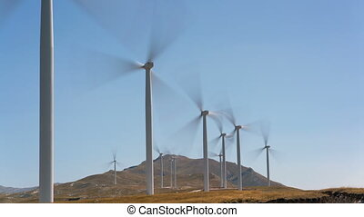 wind power generators in Montenegro, time lapse