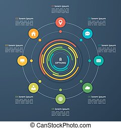 Vector infographic template with integrated circles