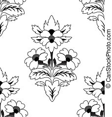 Seamless a repeating flower pattern