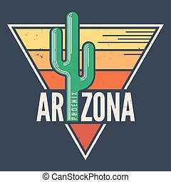 Arizona t-shirt design, print, typography, label with styled...