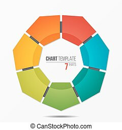 colorful infographic template with circle chart 7 options -...