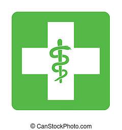 Green pharmacy sign illustration