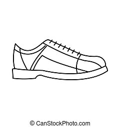 Bowling shoes icon in outline style vector illustration for...