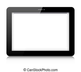Vector digital tablet isolated on white background