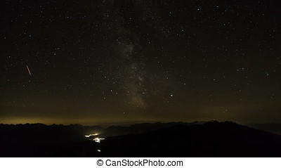 Milky way in the Alps - Milky way in the Bavarian Alps