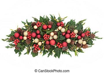 Christmas Centrepiece Decoration - Christmas centrepiece...