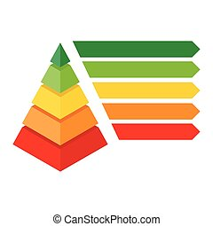 Isometric pyramid chart - Vector illustration infographic or...