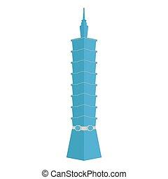 Taipei skyscraper vector - Vector illustration skyscraper....
