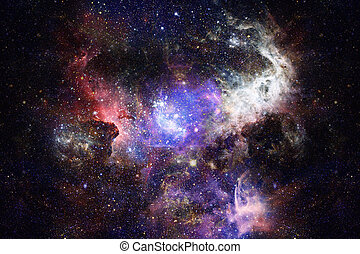 Nebula and stars in deep space, mysterious universe....