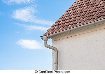 an rain drain from the roof - an rain drain pipe from the...
