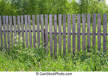 Fence in the village