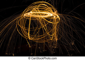 Light Painting Background - Abstract Path Tracing with Light...