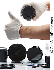 Professional cleaning sevice center of optical devices....