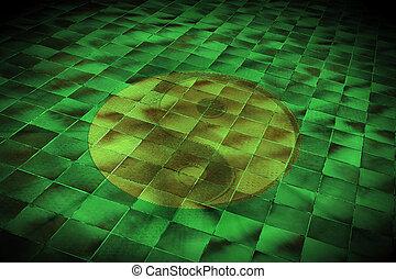 yin yan - green yin yan floor