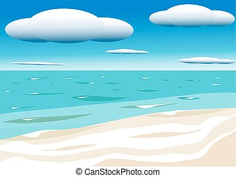 Sky with clouds and sea