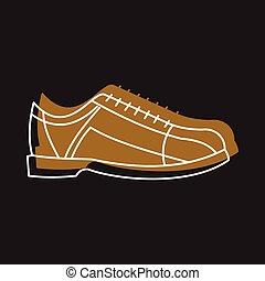 Bowling shoes icon in doodle style vector illustration for...