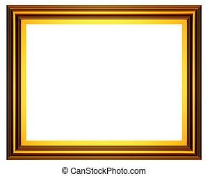 rectangular gold frame - 3D series: rectangular gold frame...