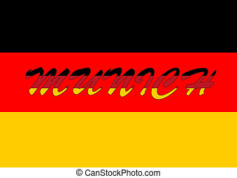 Munich with german flag - Munich wallpaper