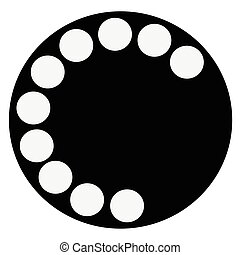 Telephone Dial Icon - An fashioned typical telephone round...