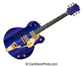 C And W Electric Guitar - A typical country and western...