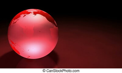 3d Glassy Earth Animation AlphaMask - Glassy Red colored...
