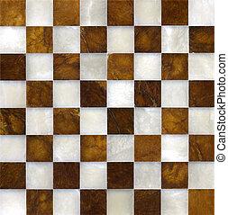 Mármol, tablero de ajedrez