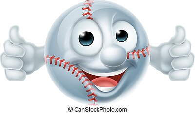 Baseball Softball Ball Man Cartoon Character