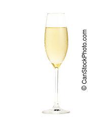 freddo, champagne, champagne, vetro, bianco, fondo