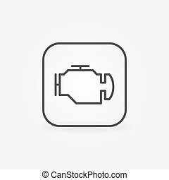 Check engine outline icon