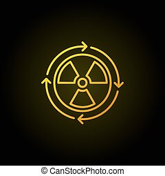 Nuclear power concept yellow icon