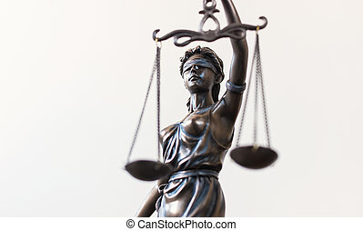 Lady Justice - Closeup of the Statue of Justice - lady...