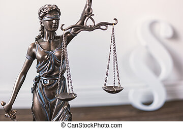 Statue of Justice - lady justice or Justitia - Justice...